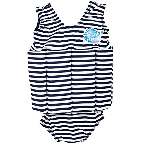 Splash About Kids Float Suit with Adjustable Buoyancy - Navy/White Stripe, 2-4 Years