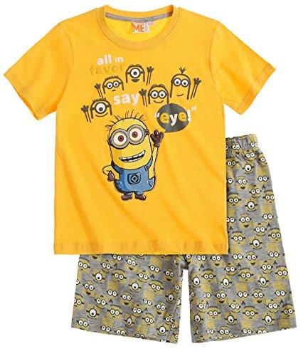 Pijama conjunto amarillo/gris 6–12años