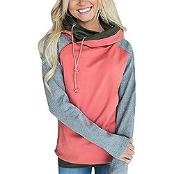 Femmes Hoodies Hiver Chaud Pulls pour Les Femmes et Les Hommes Sweatshirts Mode Kpop Sweats à Capuche A Rouge FR 38