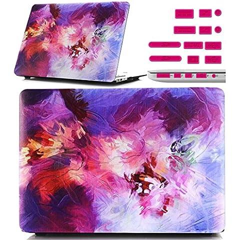 Macbook Retina 12 pollici Custodia Copertina - Ultra Slim Notebook Laptop Case Plastica Cover Rigida Duro Paraurti in Marmo Solido Modello Colorato Caso per Apple The New Macbook 12