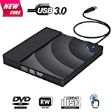 Lecteur Graveur DVD CD Externe, BOSLISA DVD/CD Lecteur Portable USB 3.0 CD DVD +/-RW ROM Player pour Windows 10/8/7/XP/2003/Vista/Linux/Mac Os