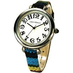 TOKYObay T016-BK Frauen Bunte Lederband Weiß Dial Analog Watch