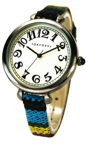 tokyobay-t016-bk-frauen-bunte-lederband-weiss-dial-analog-watch