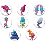 Dekora Trolls Display 12 Mini Discos Azúcar - 33 gr