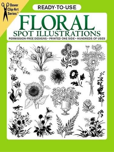 Ready-To-Use Floral Spot Illustrations (Clip Art) - Floral Spot