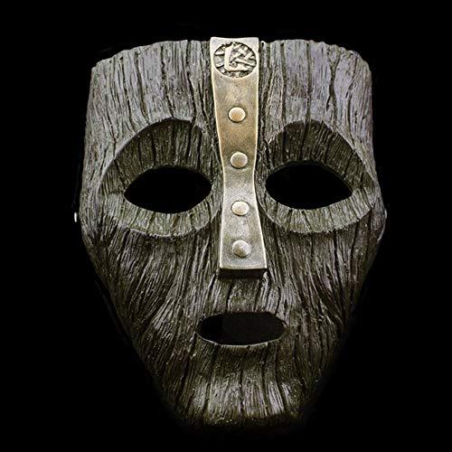 XDDXIAO Cameron Diaz Loki Halloween Harz Masken Jim Carrey Venezianische Maske Der Gott des Unfugs Maskerade Replik Cosplay Kostüm Requisiten,Schwarz (Gott Des Feuers Kostüm)