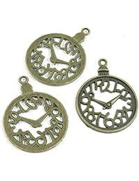 Abalorios de joyería de tono bronce antiguo 794354 para reloj de bolsillo, manualidades, manualidades
