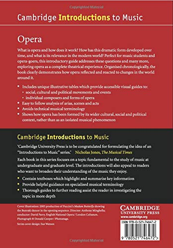 Opera Paperback (Cambridge Introductions to Music)