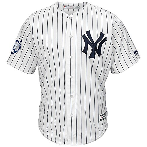 New York Yankees Majestic Home Retirement Patch Cool Base Derek Jeter Mens Jersey (Illinois Home Jersey)