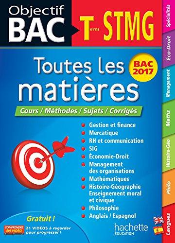 Objectif Bac - Toutes Les Matieres Term STMG