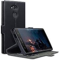 Coque Sony Xperia XA2 Ultra, Terrapin Étui Housse en Cuir Ultra-mince Avec La Fonction Stand pour Sony Xperia XA2 Ultra Étui - Noir