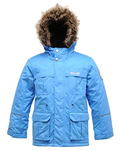 Boys Insulated Hooded Jacket (Regatta Mädchen Jacke Doofus, wasserabweisend Blau Blau (French Blue) 176)