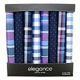 Retreez 8 Stück Reine Baumwolle Gemischte Taschentücher für Herren Geschenkset - Gemischte Set A5A004
