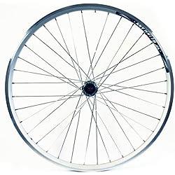 Wilkinson - Rueda trasera para bicicleta (26 x 1,75, doble pared, 8/9) plata plata Talla:26 x 1,75