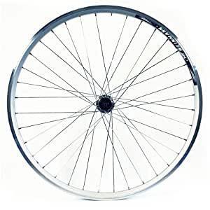 Wilkinson Rear Wheel 36 Hole Double Wall MTB Rim, V-Brake, Quick Release 8/9 Speed Hub, Silver Spokes - 26 x 1.75 Inches, Silver
