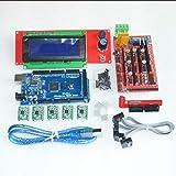 Prusa I3 1Pcs Mega 2560 R3 + 1Pcs Ramps 1.4 Controller + 5Pcs A4988 Stepper Driver Module +1 Pc Ramps 1.4 2004 LCD Control Fo