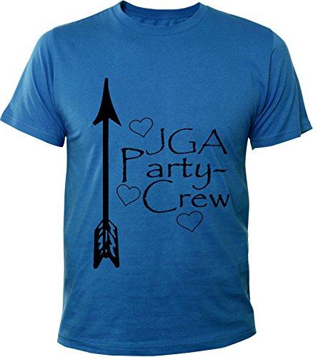 Mister Merchandise Herren Men T-Shirt Party Crew - JGA Junggesellinnenabschied Tee Shirt bedruckt Royal