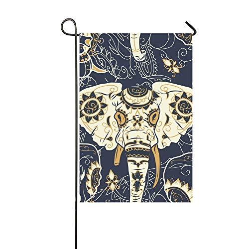 Muster Indischen Einfach Kostüm - Home Dekorative Outdoor Doppelseitige Day Dead Bunte Zuckerschädel Indische Garten Flagge, haus Hof Flagge, garten Hof Dekorationen, saisonale Willkommen Outdoor Flagge Frühling Sommer Geschenk