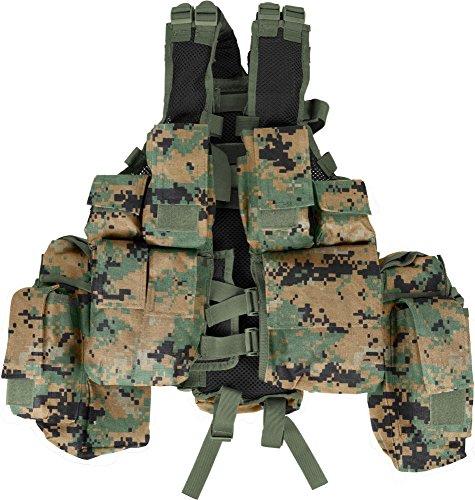 Tactical Weste in operation-camo - 12 Taschen Farbe Woodland Digital (Tarnung Digital Woodland)