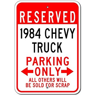 Dozili Chevy Truck Parking Sign