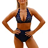 iBaste 2017 neue Damen Sexy Muschel-Kante mit hoher Taille Bikini-Sets Badeanzug