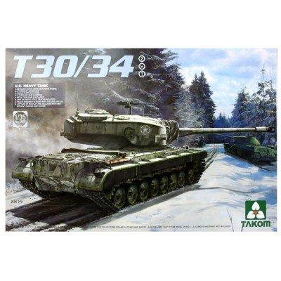 TAKOM TAK-2065 Modellbausatz U.S. Heavy Tank T30/34, 2 in 1 (Us-militär-tank)