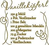 GRAZDesign 830031_30_092 Wandtattoo Tattoo Aufkleber für Weihnachten Rezept für Vanillekipferl Linien (33x30cm//092 kupfer)