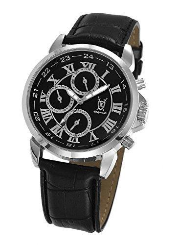 Konigswerk Herren Uhr Analog Quarz mit Leder Armband AQ202575G