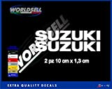 Aufkleber Aufkleber SUZUKI GSX-R 600 750 1000 GSR SV 650 INTRUDER BURGMAN V STROM (weiß)