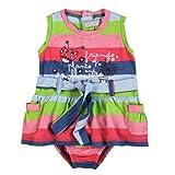 boboli - Vestido mini sin mangas para bebé, Multicolor (rayado), talla 74