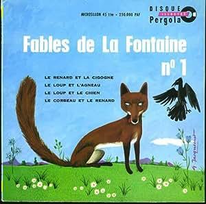 Livre-disque Les Fables de La Fontaine n° 1 (vinyle 45 tours)