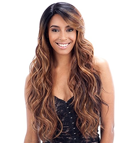 FreeTress Equal Deep Invisible Part Lace Front Wig - SUZIE (1 - Jet Blk) by Freetress