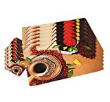 Winner Multicolor Table Placemats - 6 Pi...