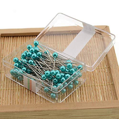Craft, spilli professionali fai da te per abbellire abiti con scatola di perle, attrezzi da cucito (turchese)