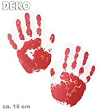 Halloween Deko Hand- und Fußabdrücke, sortierte Drucke, Halloween, Party, Karneval, Mottoparty, Deko (Hand)
