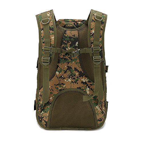 40L campeggio borsa uomo Outdoor impermeabile 3P Tad Militare Zaino Tattico Zaino Grande Assault–Borsa sacca da viaggio, Black Brown