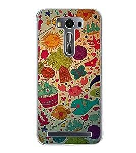 Love Summer Wallpaper 2D Hard Polycarbonate Designer Back Case Cover for Asus Zenfone Selfie ZD551KL