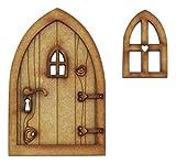 Landhäuschen feen tür. Dreidimensionale Selbstmontage Hölzerne Fee Tür Handwerkskit. Kommt mit Fee Fenster und Türgriff!