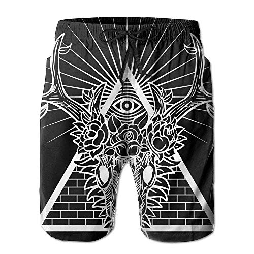 Beach Shorts, Cool Animal Print White Black Beach Wear Shorts for Men Boys, Outdoor Short Pants Beach Accessories,Size:XL (Royal Blue Und White Wedding)