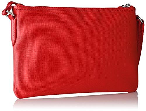 Lacoste NF1887PO, Borsa a Tracolla Donna, 17.5 x 1 x 27 cm RED ALTO RISCHIO (High Risk Red)