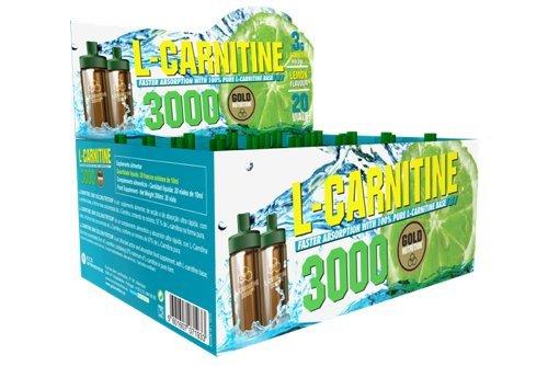 L-Carnitina 3000 Gold Nutrition 20 Unidosis x 10ml