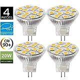 LED Lampe GU4/ MR11 2W, ersetzt 20W Glühlampe, 3000K warmweiß, 200lm, LED Leuchtmittel, SANSUN 12V DC /AC 120° Abstrahlwinkel, LED Birnen