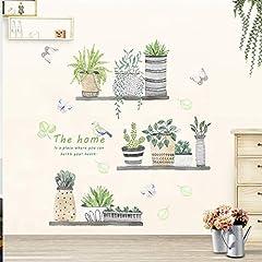 Idea Regalo - Adesivi Murali Topgrowth DIY Cactus Removibile Sticker Adesivo da Parete Adesivo Casa Famiglia Arte Murale Home Decor