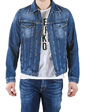 Meltin'Pot - Chaqueta JHEREMY D2014-UH221 para hombre, estilo jeans, ajuste regular, manga larga