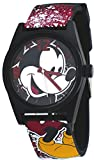 Disney #MCK1574 Mickey Mouse News-Print Silikon Band Analog Uhr