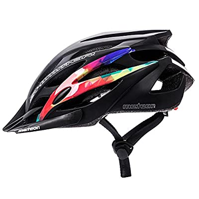 Meteor® Bike Bicycle Cycle Cycling Helmet Shimmer: Ladies Mens & Youths Helmet Bicycle Helmet Cycling – Hoverboard, InLine Skate, BMX Bike, Scooter. Developed for the safety of the tiniest User: The Helmet Circuit Certificate – 89/686/EEC and has
