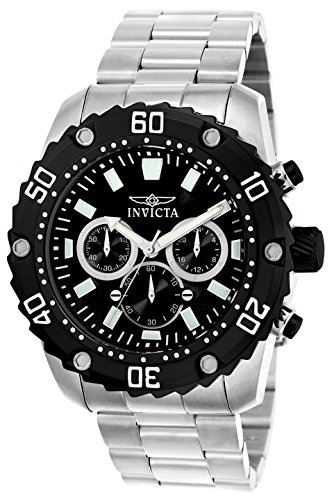 Invicta Pro Diver Men's Chronograph Quartz Watch with Stainless Steel Bracelet – 22516