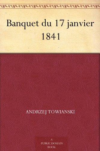 Couverture du livre Banquet du 17 janvier 1841
