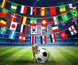 D.F.L WM Fahnen, Russland WM Top 32 Mannschaften Flaggen, 2018 FIFA Flaggen Sportvereine Dekorationen, für