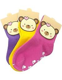 HIMRY [3 paires] antidérapantes Chaussettes Bebes Unisexe pour 1 à 3 ans, non-dérapantes Chaussettes pour bébés garçons fille, Disponible en différentes couleurs et combinaisons. KXB7000